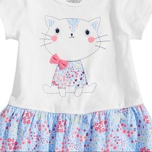 First Impressions Shirts & Tops - NWT First Impressions Floral Cat Tunic Top 18mo